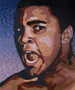 Muhammad Ali  Mosaic by Patrick Petruccello
